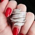 Горячие продажи кольцо Special дизайн ювелирных изделий кольца для женщин AAA циркон 163 зерна галечный ALW1890