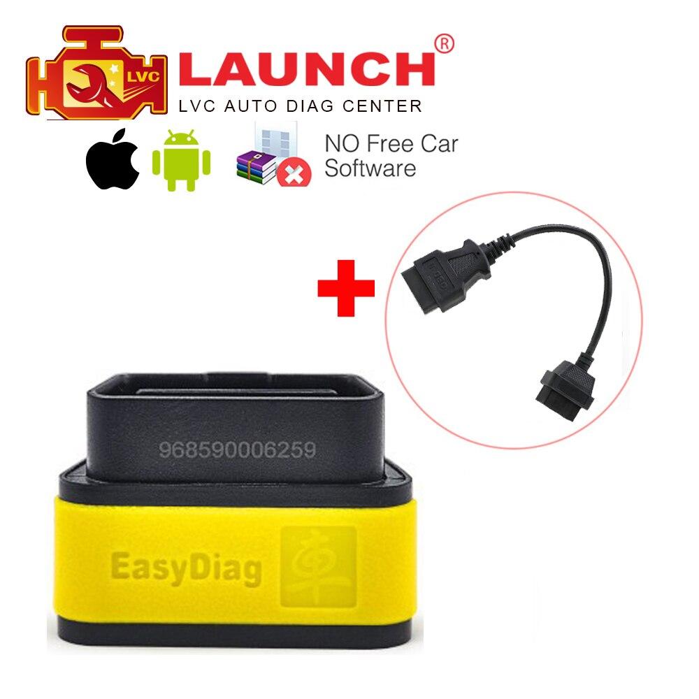 Prix pour Lancement X431 D'origine EasyDiag 2.0 auto outil de diagnostic pour IOS et Android système OBDII OBD2 Code Reader + OBD 16pin câble d'extension