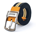 NORSSOV logo ! Length Men Belt Thickened Canvas casual Belt High Quality Strap 110 125 cm 6 Colors