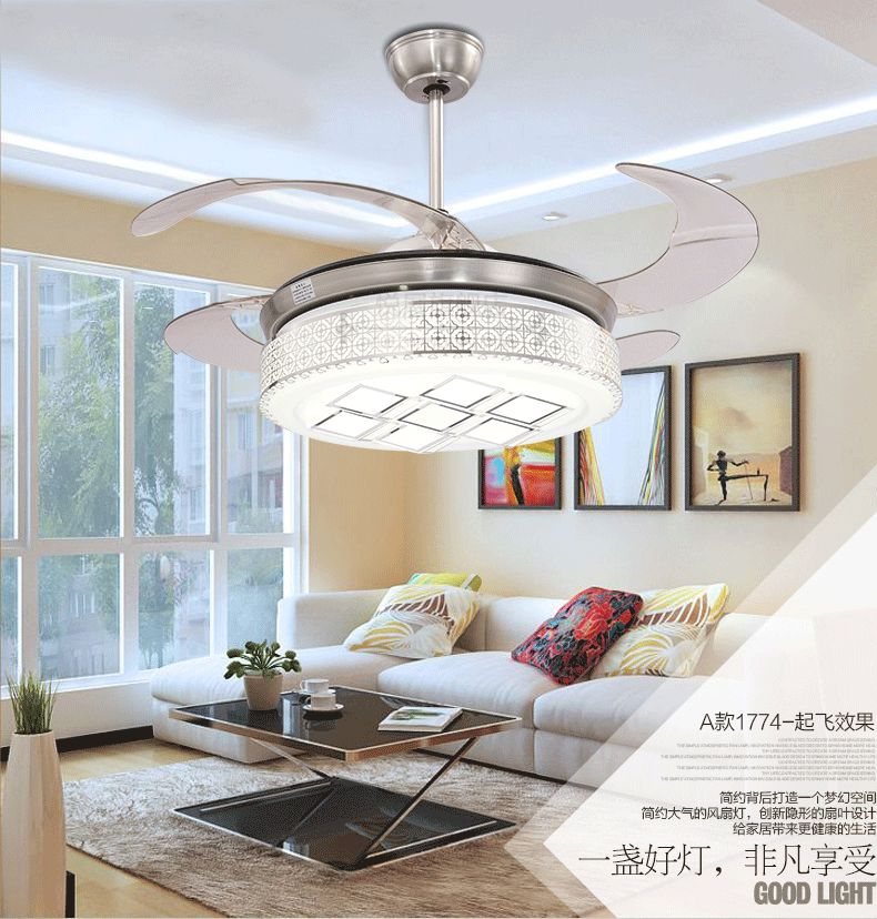 Stealth ceiling fan light living room dining room bedroom - Dining room ceiling fan ...