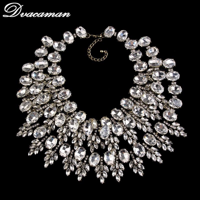 Dvacaman 2016 Multi-layer Gem Handmade DIY Bib Beads Vintage Maxi Necklace & Pendants Bijoux Statement Collar Necklace 8271