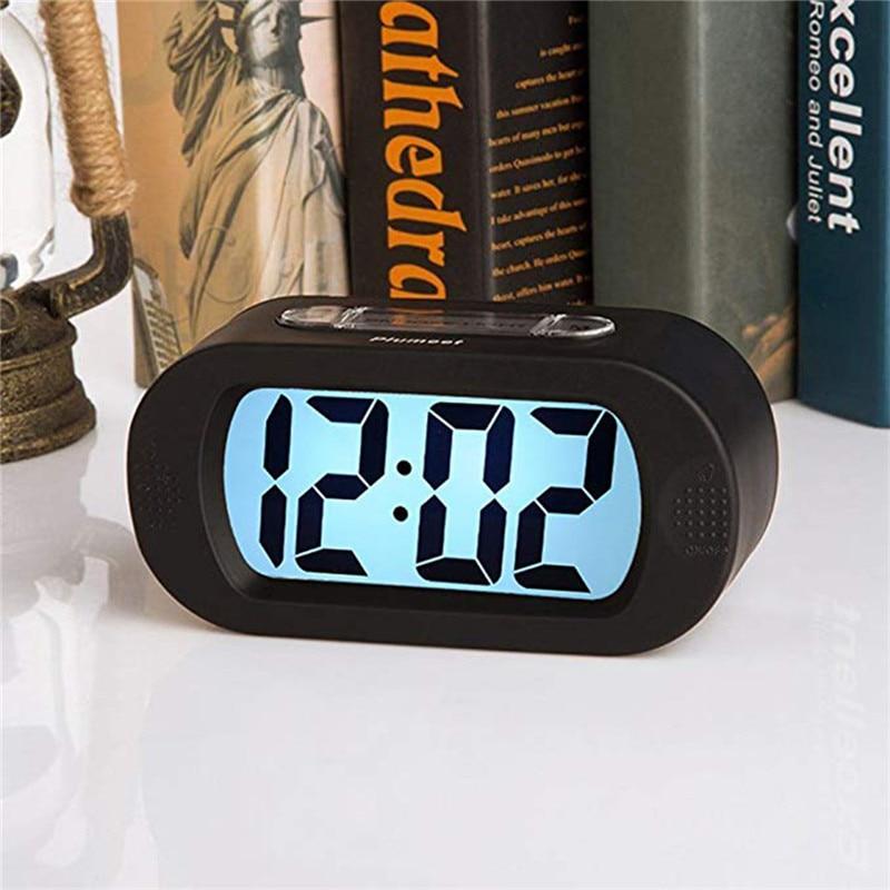 Digital Led Alarm Clock Night Lights Wall Clock Lamp Multi