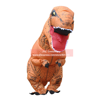 Inflatable Dinosaur Costume Halloween Cosplay Halloween Costumes For Women Men Jurassic Park Disfraces Adultos T REX