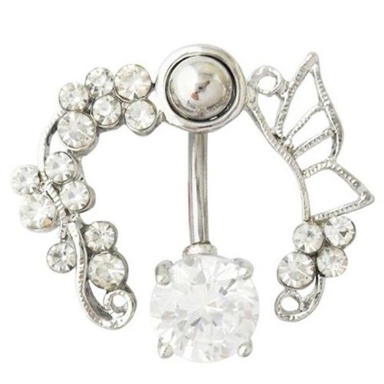 HTB1bDzwIFXXXXb1XXXXq6xXFXXXI Enchanting Butterfly Garden Hollow Belly Button Ring For Women - 2 Colors