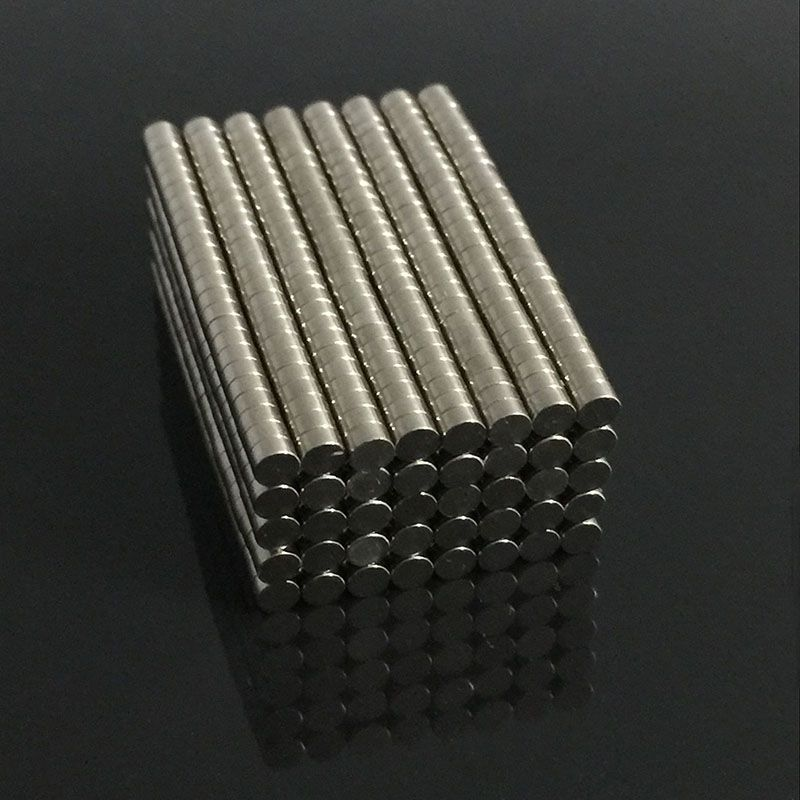 100pcs Strong Magnets Tiny Disc NdFeB Rare Earth For Crafts Models Fridge Sticking Neodymium N35 Dia 3mm X 1.5mm greeting word style fridge magnets 4 pack