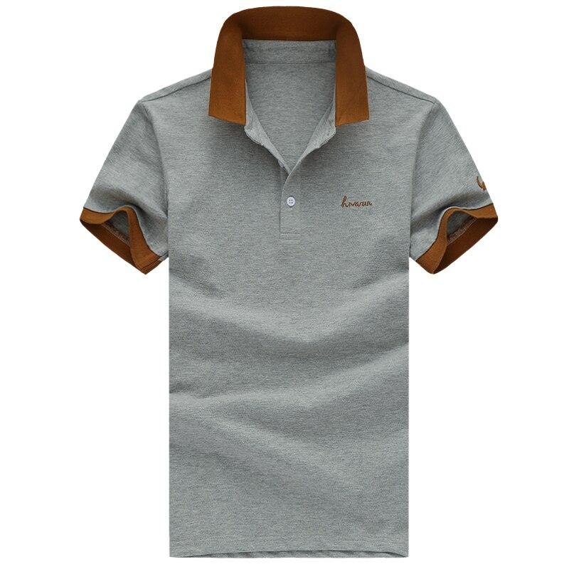 Novo 2017 do verão dos homens magro ocasional polos shortsleevepoloshirt  algodão polo camisa masculina roupas homens tops tamanho 5xl mensappareal a4aa463a183c6