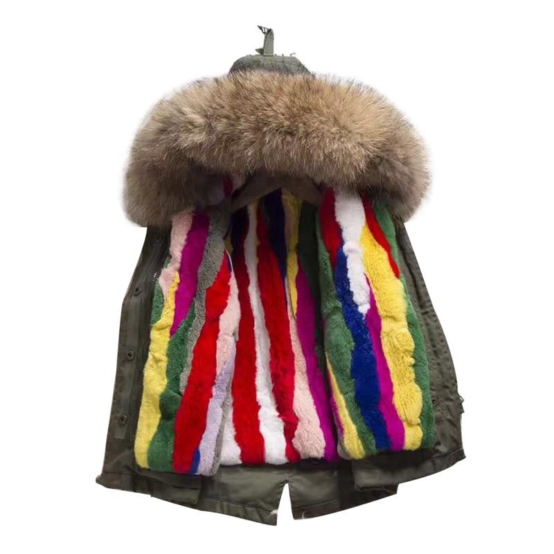 High Quality Kids Coats Boys Girls Thick Warm Winter Baby Padded Jacket  Hooded Rabbit Fur Children ... e45d02615