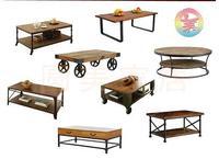 Американский Ретро твердый деревянный журнальный столик чайный столик простой промышленный ветер Лофт Подвижный двойной гостиная хранени