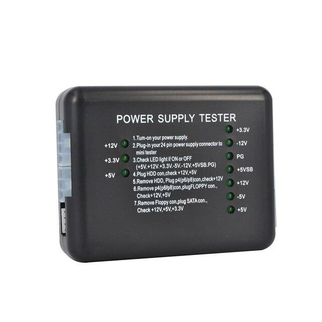 Affichage de LED de testeur dalimentation dénergie datx SATA HDD dordinateur de PC 20 24pin PSU essai doutil de Diagnostic pour la Cathode danode 12V 5V 3.3V
