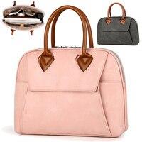 13 13.3 15 15.4 15.6 Inch Fashion PU Waterproof Zipper Laptop Briefcase Case large capacity women laptop shoulder bags