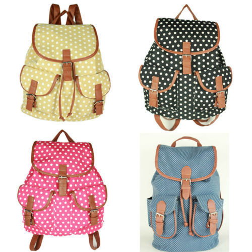 Free shipping Vintage Women's Canvas Travel Rucksack Hobo School ...