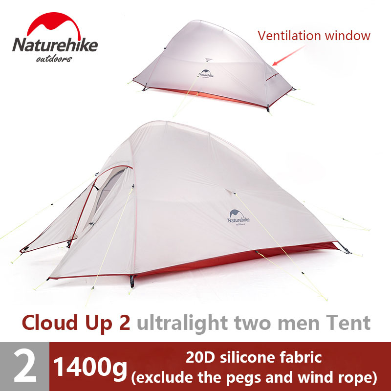 Naturehike 1 2 3 person Upgrade Double Layer Tent Outdoor Camping Hiking Waterproof Tent Ultralight Picnic