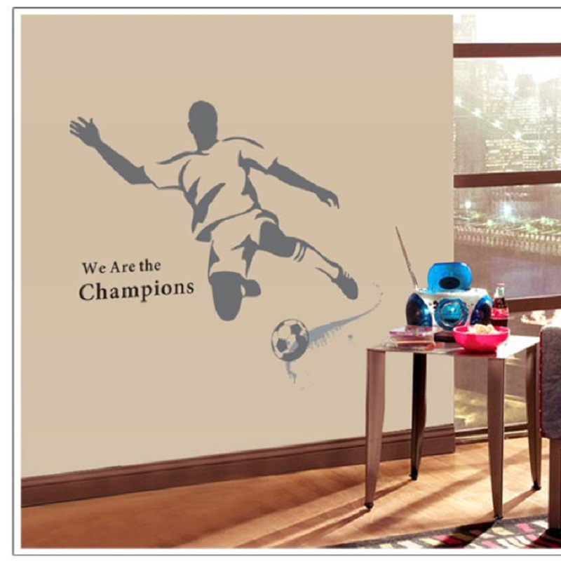 Mosunx Business   New Creative Sport Football Stickers Removable Mural PVC Home Decor