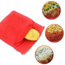 Красный моющийся запеченные картофельные корны хлеб для микроволновой печи мешок Быстрый кухонный гаджет кармашек для риса инструмент для выпечки