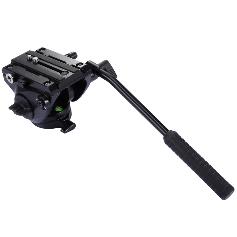 Fluid Drag Head 1/4'' Professional Heavy Duty Video Camera Action Tripod Photography Fluid Drag Tilt with Quick Release Plate