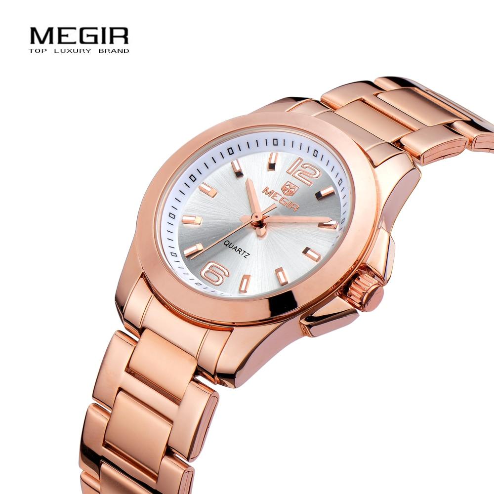 MEGIR Relojes de las mujeres de Lujo Vestido de Pareja Reloj Relogio - Relojes para mujeres