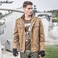 2017 letskeep nueva primavera chaquetas bomber chaqueta abrigos para hombre multi-bolsillo de los hombres del ejército militar piloto air force one chaquetas 4xl, MA330