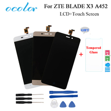 ocolor For ZTE BLADE X3 A452 t620 LCD Display And Touch Screen Screen Digitizer Assembly Replacement For ZTE Phone +Tools +Film