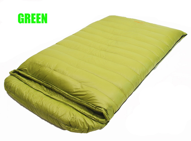 Filling 3500 4000g Goose Down 2 Person Waterproof Comfortable Very Warm Sleeping Bag