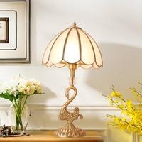 European classical Copper table lamp bedroom Bedside desk lamp Wedding decoration Lighting home lighting led Desk lamp
