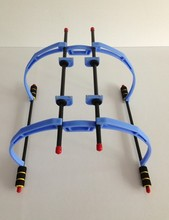 LHM059 F450/F550Quadcopter tall Landing Skid Gear Stand Kit Hexacopter Universal 200mm blue