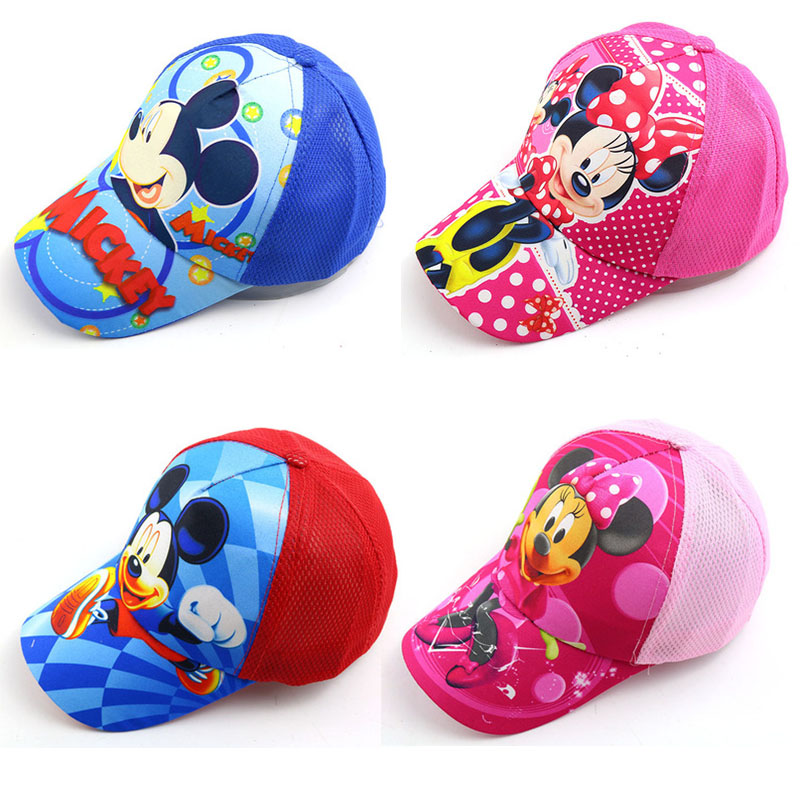 Cute handsome hat boy and girl adjustable   baseball     cap   healthy Mouse Mickey Minnie sun protection   baseball     cap   child