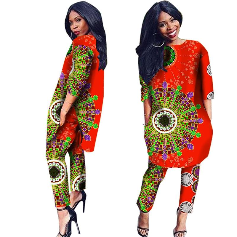 African Clothes 2 Pieces Set Print Dashiki African Clothes