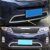 Chrome Bovenste Auto Grille Decoratieve Trim Frame Voor Kia Sorento 2013-2014 1 Pc