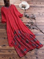 4xl 5xl patchwork Retro long dress big size floral bobo dress casual maxi dress plus size clothing large size women dresses