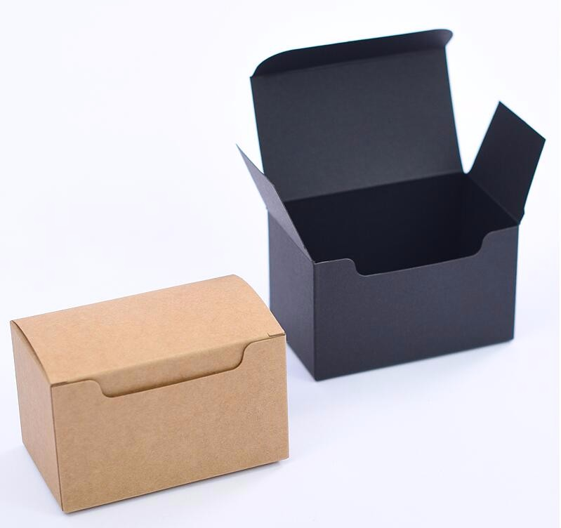 10*6*6cm Natural Kraft paper business card packaging Box square ...