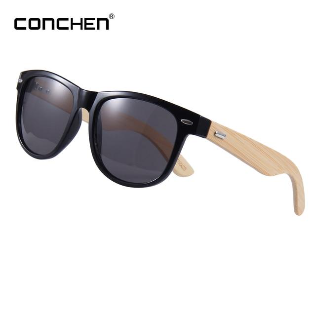 52b757f4aa CONCHEN bambú gafas de sol para hombres gafas de sol de madera marca 2018 Uv400  alta