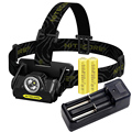 Nitecore Waterproof HA20 Headlamp CREE XpG2 LED Full Metal Uniboy Wide-beam Optics AA Portable+2*AA Rechargeable Battery+Charger