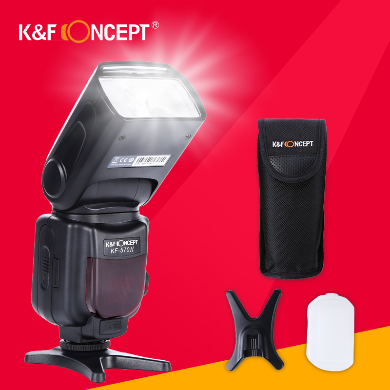 K&F CONCEPT KF570II GN54 Wireless Flash Speedlite LCD High Speed S1/S2 Mode Power Save+Gift Kit For Universal DSLR PK Yongnuo литой диск replica legeartis concept ns512 6 5x16 5x114 3 et40 d66 1 bkf