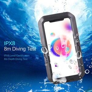 Image 2 - Vmonv אוניברסלי עמיד למים אופנוע אופניים כידון טלפון מחזיק עבור iPhone X 8 7 רכיבה על אופני טלפון נייד מקרה GPS פגז