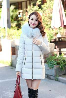 Winter Parkas Women New Design Elegant Ladies Fur Hooded Zipper Thicken Warm Coats&Jackets Female Cotton Padded Coat A4400 women parkas 2016 fashion ladies big fur hooded slim thicken outerwear winter coats women cotton padded warm overcoat a4507