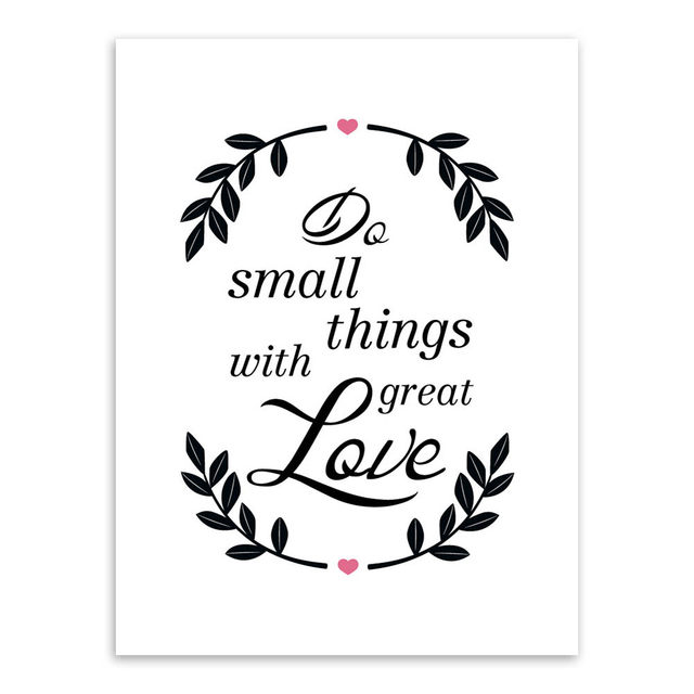 Nordic Minimalist Black White Love Quotes Art Print Poster Wall Picture Living Room Canvas Painting No Frame Home Decor
