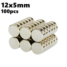 Powerful Magnetic in Disc 12mm x 5mm Searching Magnet Round Neodymium Magnets NdFeB 100pcs 12*5 N35 Imanes Rare Earth
