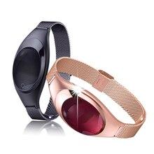 Jrgk z18 роскошный умный браслет дизайн ювелирных изделий браслет артериального давления фитнес-трекер монитор сердечного ритма смотреть женщины подарок