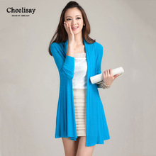 Fashion Cardigans Female Casual Long Knitted Open Stitch Spring Autumn Women Loose Solid Color Sweater Outwear