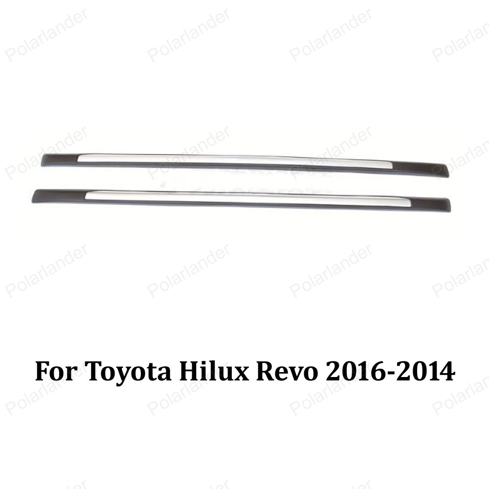 Cargo holder Baggage Luggage Carrier Alloy Car Roof Rack side Bar for T/oyota H/ilux R/evo 2016-2014 ...