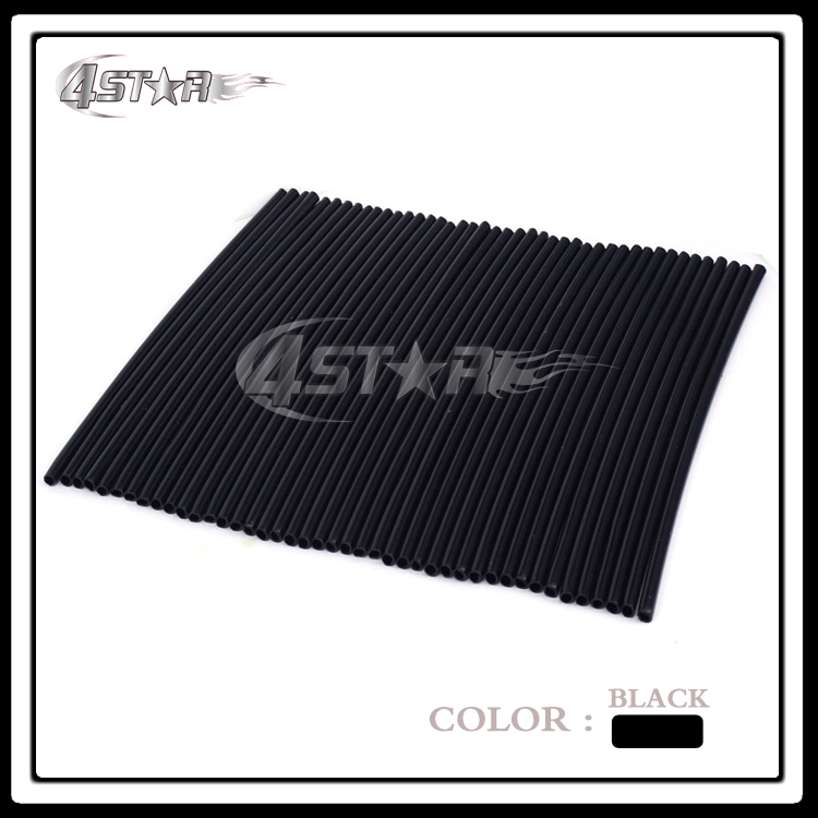 72pcs Plastic Black Spokes Wraps Covers Protector Guard Skins For KTM KLX YZF RMZ CRF Dirt Bike Motocross Enduro Motorcycle