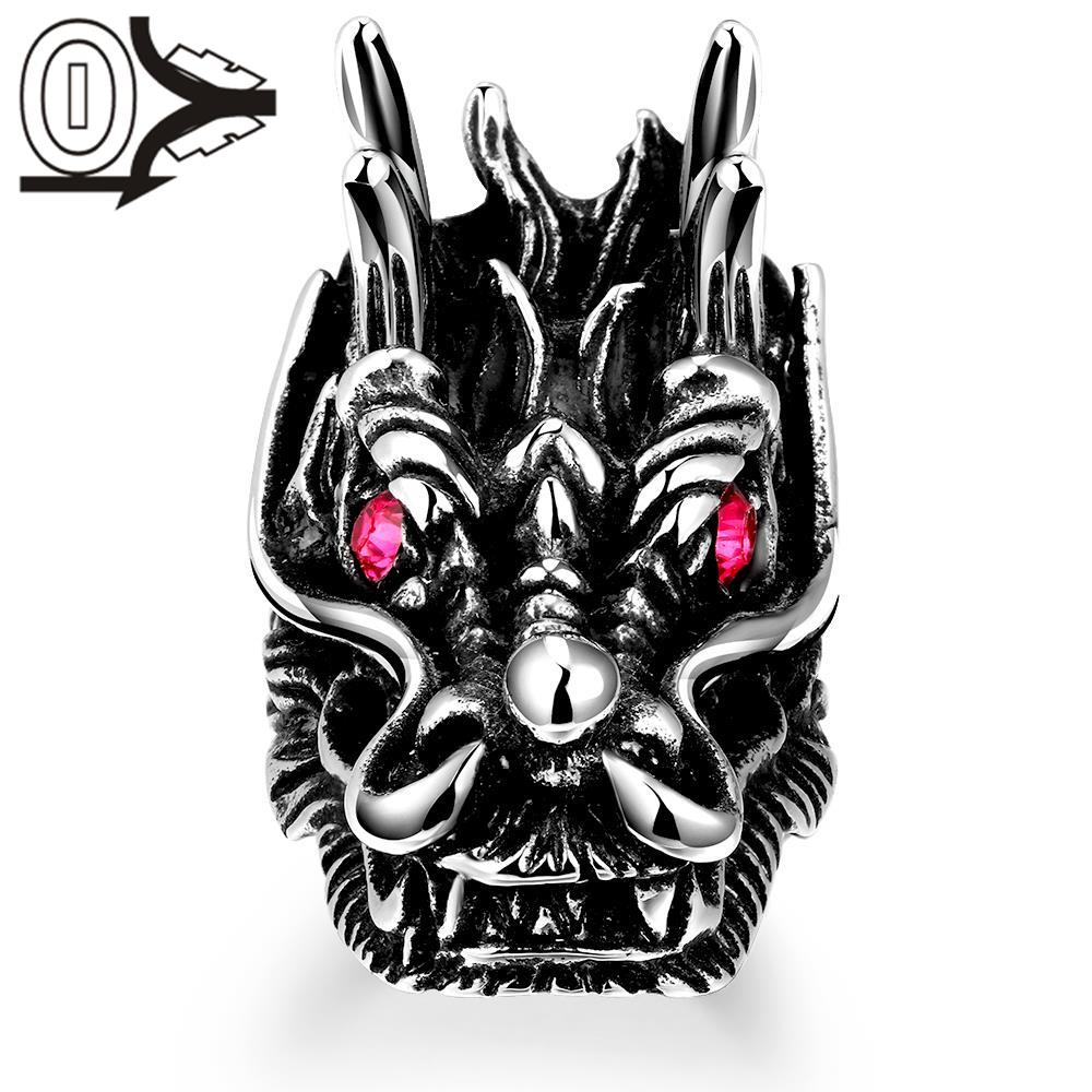 R191 Hot Cool 316L Stainless Steel Ring Magic Movie Props Black Vintage Punk Style Women Mens Titanium steel Finger RIngs