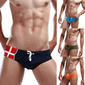Mens Cross Pattern Printed Underwear Beach Briefs beachwear Trunks 4Colors  Free shipping &Drop shipping