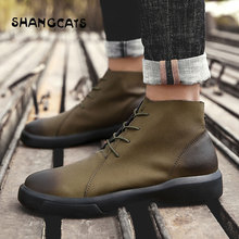 winter shoes for men vulcanized shoes High top fashion trend 2018 High quality buty meskie Retro winter footwear big size 47 48