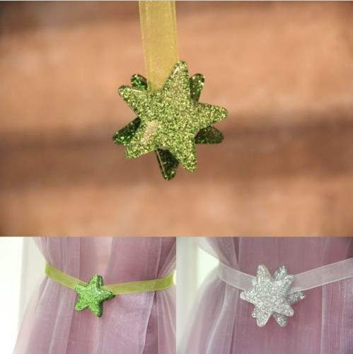 1 Pair Magnetic Voile Curtain Decoration Clip On Holder Tie Backs