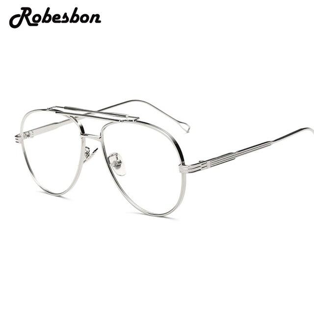 2018 Men Brand Round Frame Alloy Optical Glasses Frames Women ...