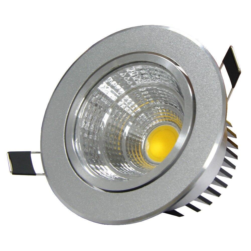 Dimmable удара потолочные встраиваемые светодиодные лампы украшения потолочный светильник AC110V 220 В 6 Вт