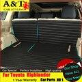 Styling de carro Para Toyota Highlander Tronco mat baú de couro Cobre Highlander 2015 dedicado totalmente cercado Tampas de Assento