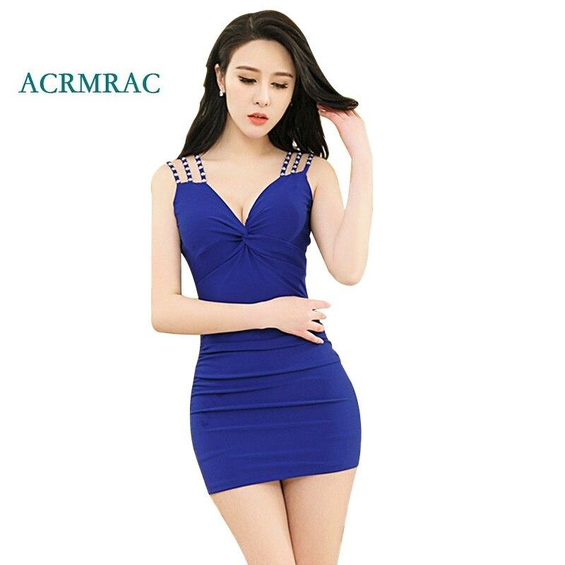 ACRMRAC Women s Dresses New summer Patchwork Solid color V neck sleeveless Sexy font b Slim
