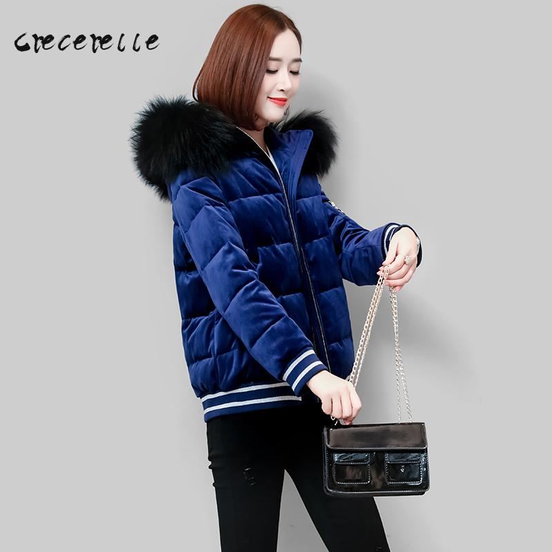 2018 Winter Clothing New Large Size Women Short Thick Padded Coat Thin Cotton Hooded Belle coat Plus Size Feminino D562